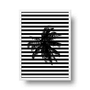Quadro Decorativo Poster Geométrico Coqueiro - Abstrato, Listrado, Minimalista