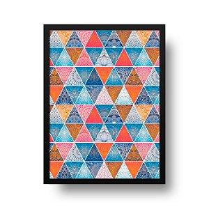 Quadro Decorativo Poster Geométrico Mandala - Abstrato, Triângulos, Zen