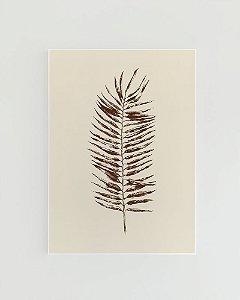 Quadro Decorativo Poster Natureza Folha de Palmeira - Folha Seca