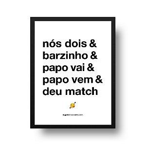 Quadro Decorativo Poster Nós Dois - Frase, Amor, Namorados, Casal