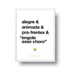 Quadro Decorativo Poster Para Mãe Alegre - Palavras, Homenagem, Mães