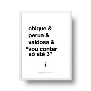Quadro Decorativo Poster Para Mãe Chique - Palavras, Homenagem, Mães