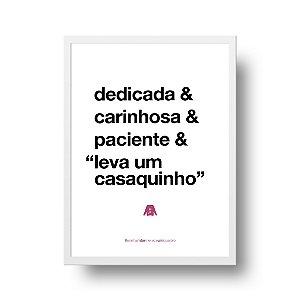 Quadro Decorativo Poster Para Mãe Dedicada - Palavras, Homenagem, Mães