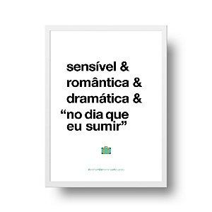 Quadro Decorativo Poster Para Mãe Sensível - Palavras, Homenagem, Mães
