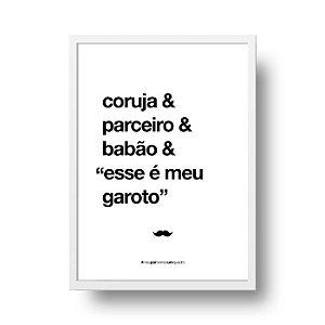 Quadro Decorativo Poster Para Pai Coruja - Palavras, Homenagem, Pais