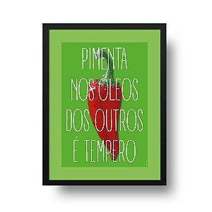 Quadro Decorativo Poster Pimenta - Frase, Divertido, Tempero, Cozinha