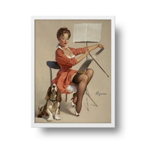 Quadro Decorativo Poster Pin Up Dog Gone Good - Vintage, Retrô, Sexy Girl