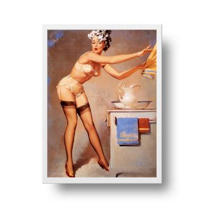 Quadro Decorativo Poster Pin Up Girl Banho - Eye Catcher, Vintage, Retrô