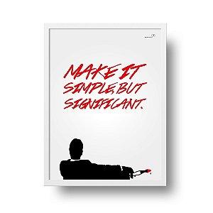 Quadro Decorativo Poster Série TV Mad Men - Silhueta, Frase, Don Draper