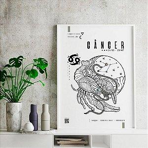 Quadro Decorativo Poster Signo Câncer Com Realidade Aumentada