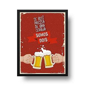 Quadro Decorativo Poster Somos Dois - Brinde, Caneco, Chope, Cerveja