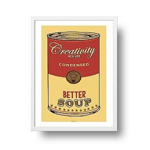 Quadro Poster Pop Art - Creativity Soup
