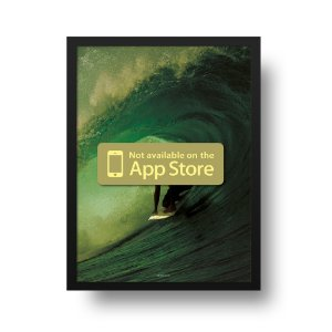 Quadro Poster Surf - Not Available on The App Store