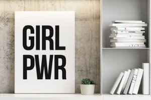 Quadro Decorativo Poster Frase GRL PWR - Girl Power