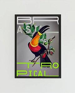 Quadro Decorativo Poster Alma da City Tucano Brasil Tropical - Natureza, Ave, Gravura