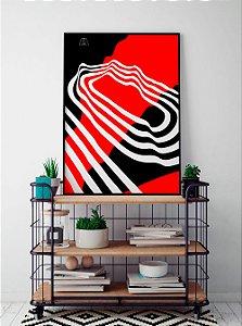 Quadro Decorativo Poster Alma da City Rubro-Negro - Time, Futebol, Camisa, Vermelho, Preto