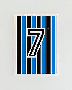 Quadro Decorativo Poster Alma Da City Tricolor Gaúcho - Camisa, Time, Futebol