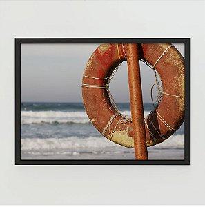 Quadro Decorativo Poster Fotografia Boia Vermelha - Praia do Rosa, Lugares