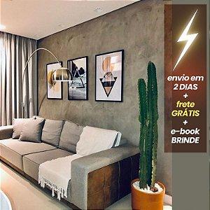Quadro Folhinhas + Quadro Geométrico Praia + Quadro Olho + E-Book Minimalismo: Frete Grátis, Envio Expresso