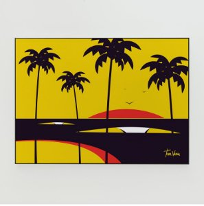 Quadro Decorativo Poster Big Swell Tom Veiga - Surf, Ondas, Praia