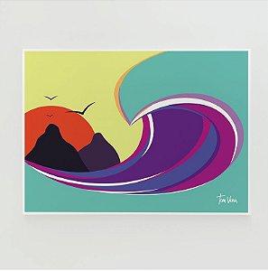 Quadro Decorativo Poster Fernando de Noronha Tom Veiga - Surf, Onda, Tubo