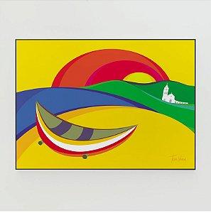 Quadro Decorativo Poster Garopaba Tom Veiga - Design Gráfico Minimalista