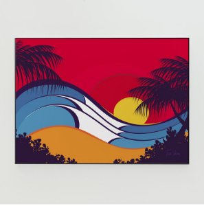 Quadro Decorativo Poster Hawaii Waves Tom Veiga - Surf, Ondas, Praia