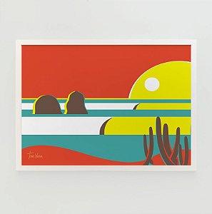 Quadro Decorativo Poster Punta Lobos Poster Tom - Surf, Ondas, Chile