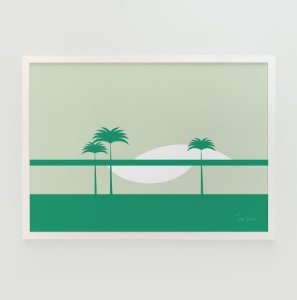 Quadro Decorativo Poster Retro Tom Veiga - Design Gráfico Minimalista