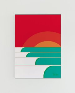 Quadro Decorativo Poster Series Tom Veiga - Surf Art, Ondas, Sol