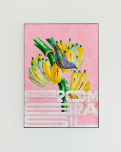 Quadro Decorativo Poster From Brasil Bananas - Tropical, Rosa
