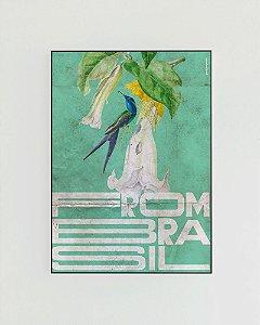Quadro Decorativo Poster From Brasil Beija-Flor - Tropical, Verde