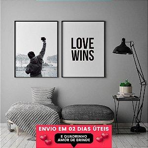 OFERTA Quadros Rocky + Love Wins + Quadrinho Amor, Envio em 2 Dias
