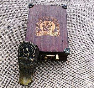 Kit presente - Abridor de garrafa Querida Cerveja em caixa de madeira artesanal