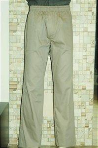Calça de Sarja com Elástico na cintura Cinza