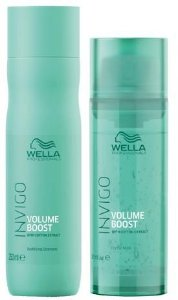 Kit Wella Invigo Volume Boost - Shampoo 250 ml e Máscara 145 ml