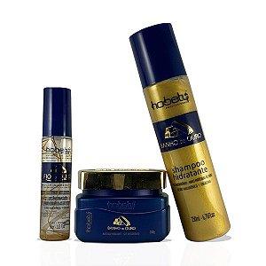 Kit Hobety Banho de Ouro - Shampoo 250 ml, Máscara 300 g e Finalizador 60 ml