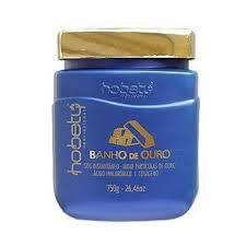 Máscara Hidratante Hobety Banho de Ouro - 750 g