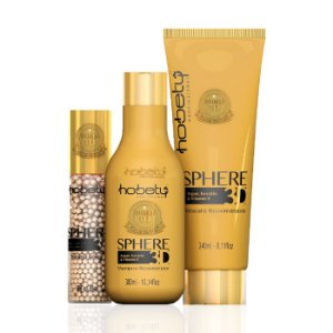 Kit Hobety Sphere 3D - Shampoo 300ml, Máscara 240ml e Serum 60ml