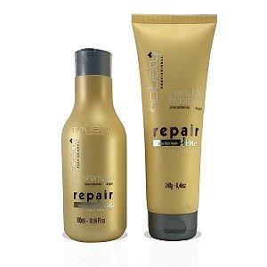 Kit Hobety Repair Line - Shampoo 300 ml + Emulsão 240 g