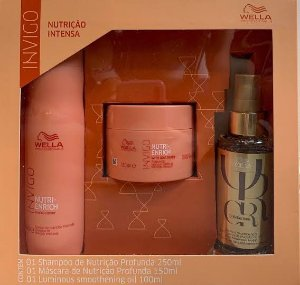 Kit Wella invigo Nutri Enrich - Shampoo ,Máscara e Oil Reflections