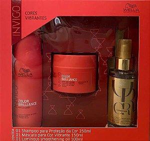 Kit Wella invigo Color Brilliance - Shampoo ,Máscara e Oil Reflections