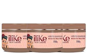 ILike Professional Kit Trio Hidratação Express Máscara - 300g