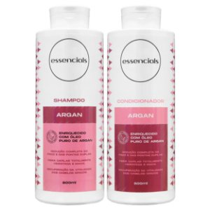 Essencials Kit Shampoo e Condicionador Argan - (2x800 ml)