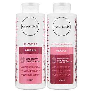 Essencials Kit Shampoo e Condicionador Argan - (2x800 ml)
