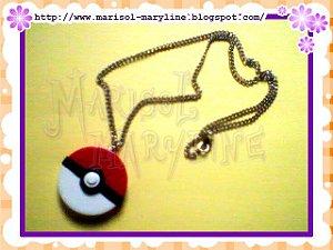 Colar de correntinha com Pingente de Pokebola - Pokemon