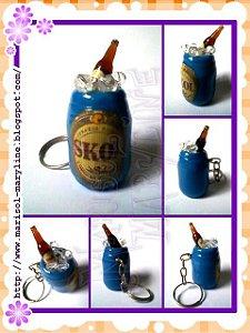 Chaveiro Cooler de Cerveja Skol