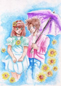Print A5 Kimy e Leni - aquarelas - Hot and Cold: Kimy Itamini story
