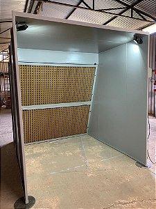 Cabine de Pintura Líquida Via Seco
