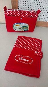 Kit necessaire do bebê + capa para caderneta personalizada